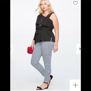 Eloquii tie waist striped pants
